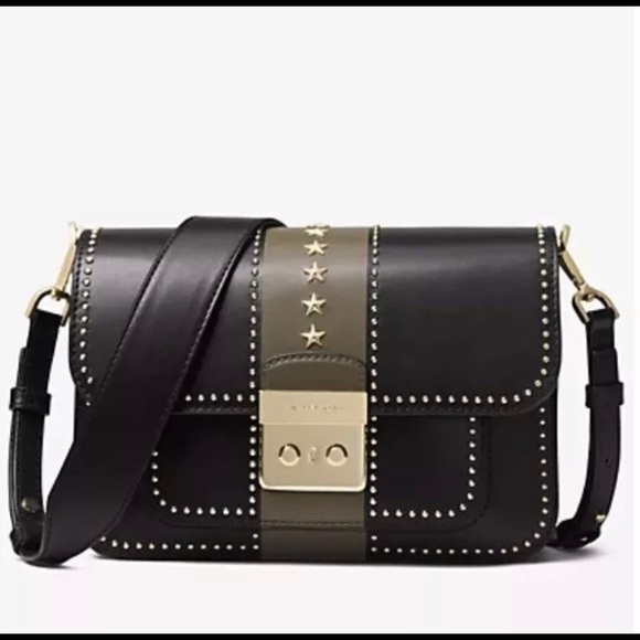 d37b47467944 MICHAEL KORS Sloan Editor Studded Color Block Bag